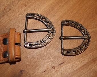 Belt closure, 2 pieces, vintage