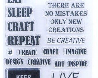 Creative Quotes - A6 Stamp Set by Imagine Design Create
