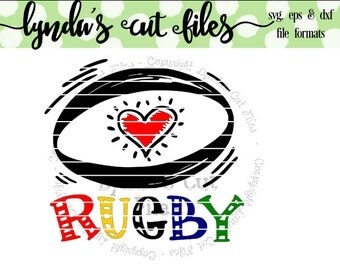 Rugby Love SVG/DXF/EPS file