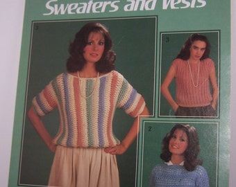 Leisure Arts Quick Crochet Sweaters and Vests Leaflet 347  Easy Instructions