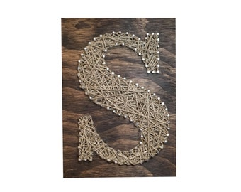 String Art- Custom Letter