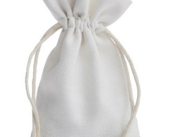 100 pieces Cotton Bags with coving