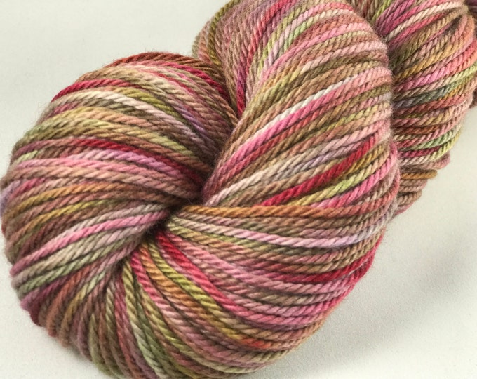 "Hand Dyed Worsted Yarn, 100% Merino Wool ""Love Your Lipstick"""