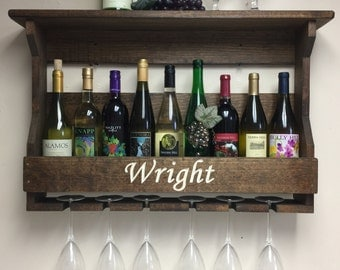 Personalized Wine Rack | Engraved Wine Rack | Wedding gift | Gift For  Couples | Housewarming