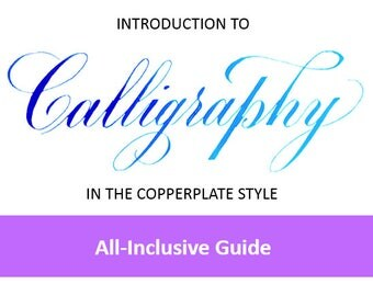 Introduction to Calligraphy (Copperplate Style) - Instant Download