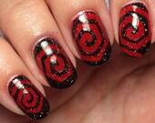 Hexagon Spiral Nail Vinyl Fingernail Art Stencils