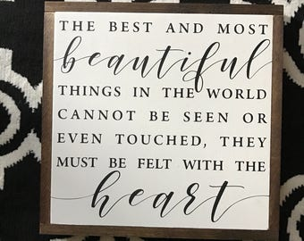 The best and most beautiful things 16x16