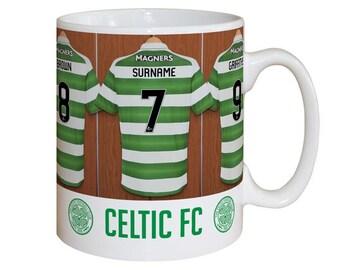 Personalised Celtic F.C. Dressing Room Mug
