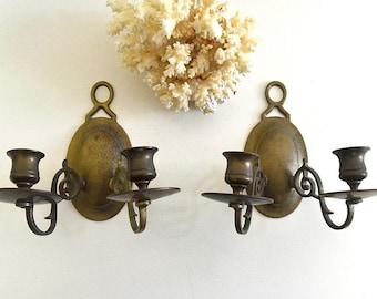 vintage brass candle sconces vintage wall sconces pair of brass sconces vintage brass lighting