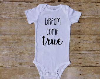 dream come true, shower gift, baby shower, newborn baby, coming home outfit, rainbow baby, pregnancy announcement, ivf baby, worth the wait