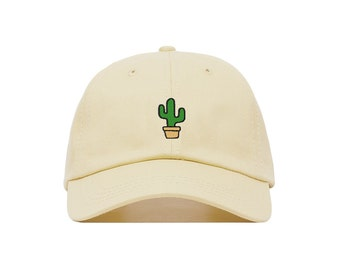 Cactus Embroidered Baseball Cap