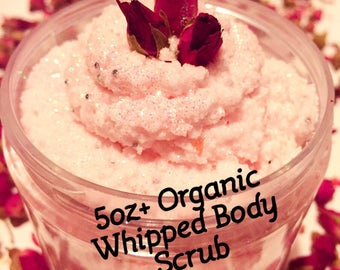 Free Shipping Organic foaming scrub/Body whipped scrub /5-6oz/Body Scrub /Love spell/coconlemon cheesecake