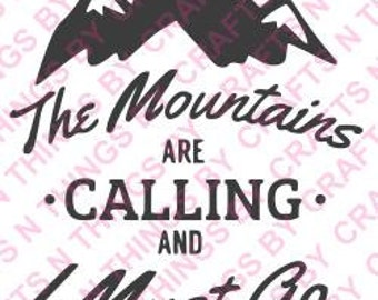 Mountains are calling SVG
