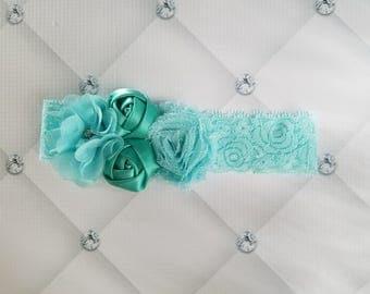 Baby flower lace headbands, baby headband