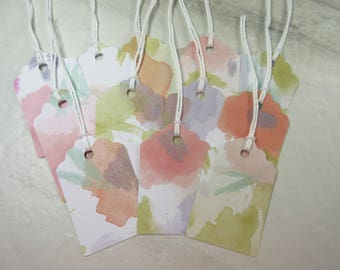 12 Watercolor Gift Tags