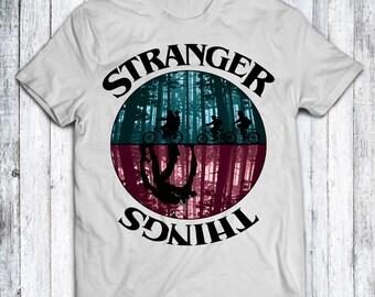 Stranger Things Inspired White T Shirt - Sizes - XS - S - M - L - XL - XXL - 3XL - 4XL