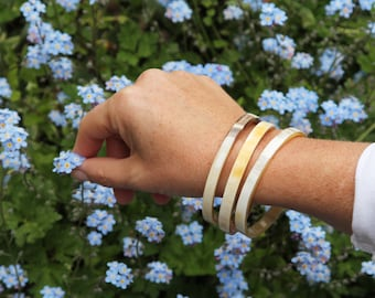 Handmade Horn Bangles (set of 3)