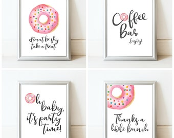 Donut Baby Shower Sign Package - Printable Baby Shower Signs - Donut Decorations - Donut Decor - Donut Party - Donut Birthday Party Decor