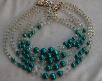 1950's Multi strand Necklace
