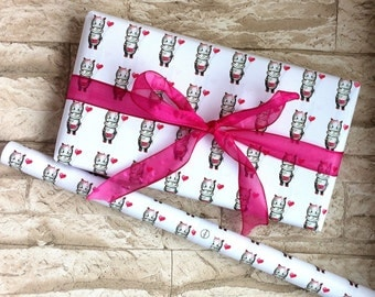 Wrapping paper hippo