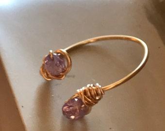 Minimalist Pink Crystal Ring