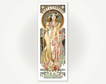 Moet Chandon Vintage French Champagne Poster Print - Alfons Mucha Poster Art for Moët & Chandon