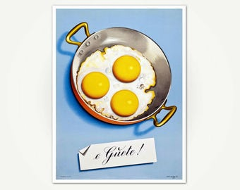 e Guete! Poster Print - Niklaus Stoecklin Swiss Poster Art - Kitchen Print with Eggs
