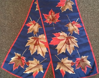 Vintage Vera Neumann Maple Leaf Ponytail or Neck Scarf