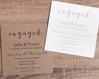 Personlised Engagement Invitations