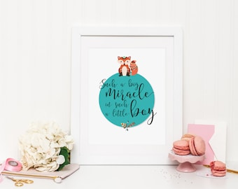 Such a big miracle in such a little boy Wall Print | Wall Art | Printable Art | Poster | Art | Modern Prints | Home Decor | Decorative Print