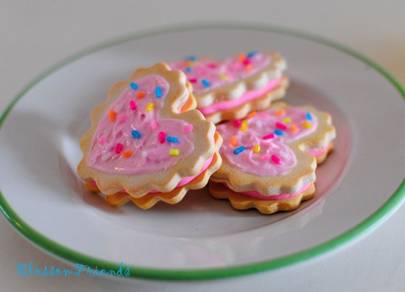 Frosted Sandwich Cookies with Sprinkles
