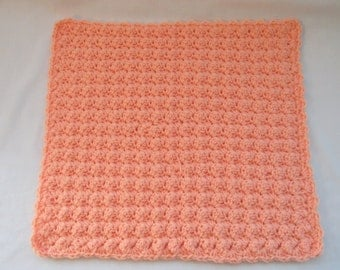 Crochet Baby Security Blanket Creamsicle