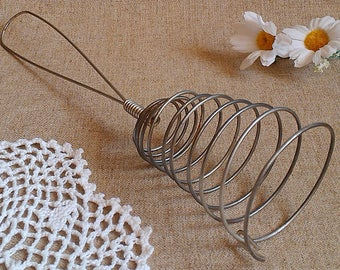 Vintage Metal Whisk, Wire Whip, Vintage hand whisk, Wire egg whipper, mixer manual, Old Hand egg beater, Soviet Wire Whisk, Kitchenware USSR