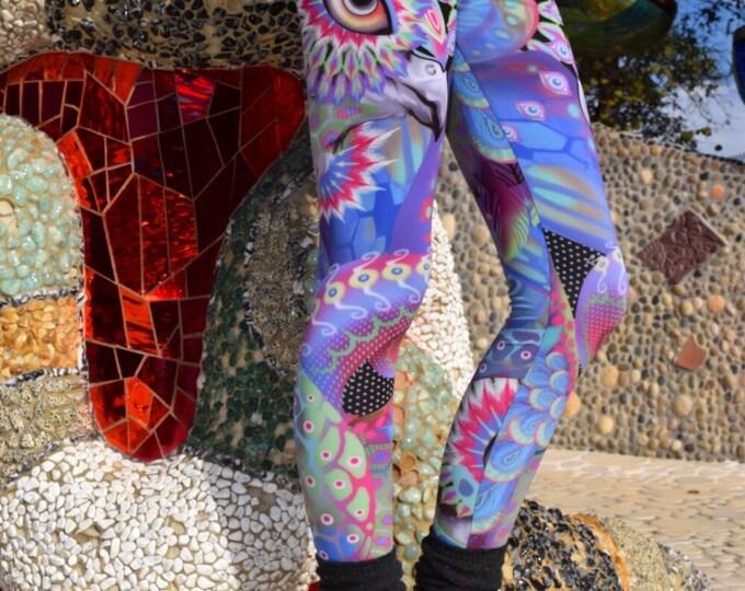 Cosmic Bird Octopus Leggings Yoga Pants