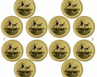 Pearl Harbor Perth Mint 1/10 oz. .9999 Gold Coins