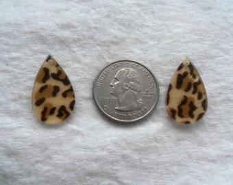 Leopard Print Teardrop Drops, Pack of 10 (1227)