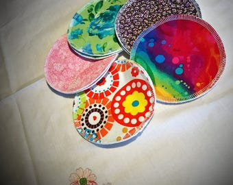 Reusable Cotton Cloth Nursing Pads, individual pairs     Washable and Eco-Friendly