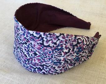 Fashion Headband Womens Headband Teen Headbands Wide Fabric Headband Adult Headbands  Mommy and Me Cotton Hairband  Purple Headbands