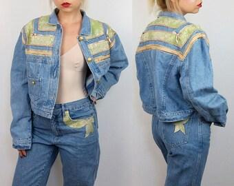 ROCCOBAROCCO Vintage Denim Suit | Denim Jacket and Mom Jeans | All denim Ensemble