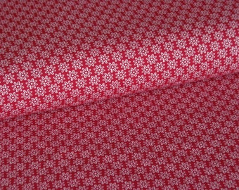 Bordeaux cotton fabric with white flowers