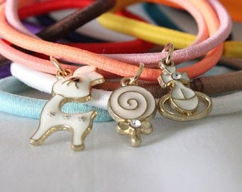 Hair Tie Charms, Accessories for your Hair Tie Bracelet