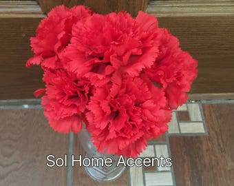 Flower pens, carnation pen bouquet, flower pens, handcrafted pen bouquet, red carnation bouquet. Dianthus