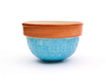 Fioriware Embossed Pumpkin & Blue Bowl