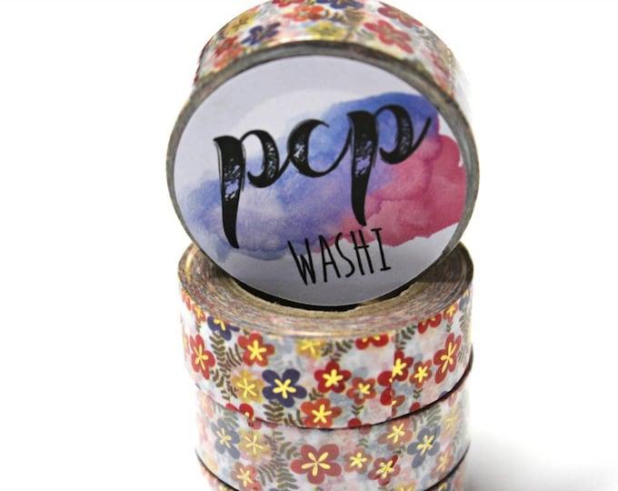 Washi Tape - Foil Washi Tape - Gold Foil Washi Tape - Paper Tape - Planner Washi Tape - Washi - Decorative Tape - Deco Pape - Floral Washi