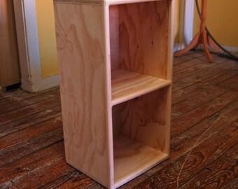 Two Cube Bookshelf Finished/Unfinished Modern Apartment Minimalist Storage Furniture
