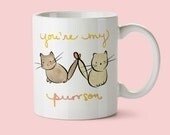 cute cat mug, best friend birthday gift, cat coffee mug, friendship mug, christmas gift for girlfriend, bff mug, bff gift, cute coffee cup