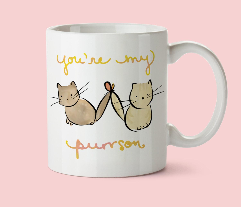 Cute Cat Mug Best Friend Birthday Gift Cat Coffee Mug