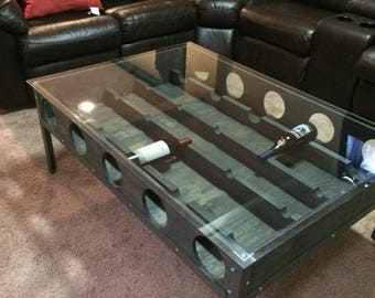 10 bottle wine table...  these are made to order with your dimensions