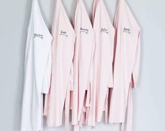 Personalised Women's Dressing Gown - Personalised Women's Kimono Dressing Gown - Personalised Women's Kimono Robe