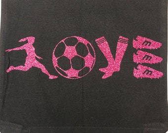 LOVE Soccer personalized bag